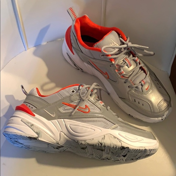 Nike M2K Tekno metallic silver dad shoes